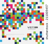 modern abstract digital squares ... | Shutterstock .eps vector #211005457