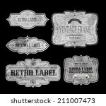 set of vintage labels  vector... | Shutterstock .eps vector #211007473