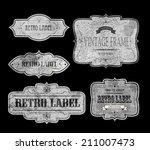 set of vintage labels  vector... | Shutterstock .eps vector #211007473