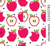 red apple. vector seamless... | Shutterstock .eps vector #211021783