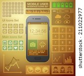 flat mobile ui user interface...