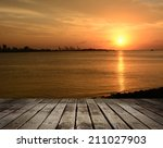 famous sunset in tamsui ...   Shutterstock . vector #211027903