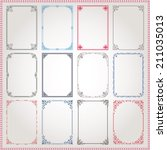 decorative vintage frames and... | Shutterstock .eps vector #211035013