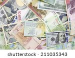 Stock photo different foreign currency background concept of exchange rate 211035343