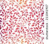 watercolor seamless pattern...   Shutterstock .eps vector #211041907