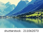 norway landscapes | Shutterstock . vector #211062073