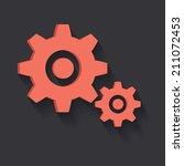 gears symbol clean vector