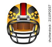yellow american football helmet ...