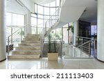 luxury marble stairs in hotel... | Shutterstock . vector #211113403