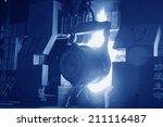 steel mills converter filling... | Shutterstock . vector #211116487