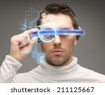 future  technology and people... | Shutterstock . vector #211125667