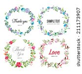 floral frame collection. set of ... | Shutterstock . vector #211173907