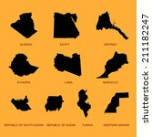 north africa states vector map... | Shutterstock .eps vector #211182247