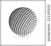 halftone sphere vector logo... | Shutterstock .eps vector #211195333