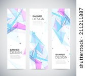 vector vertical banners set... | Shutterstock .eps vector #211211887