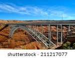 iron bridge crossing the... | Shutterstock . vector #211217077