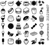 food and drink icon collection  ... | Shutterstock .eps vector #211218607