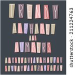 handwritten font  alphabet and... | Shutterstock .eps vector #211224763