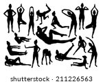 sport silhouettes of women | Shutterstock .eps vector #211226563