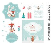 set of christmas vector... | Shutterstock .eps vector #211238737