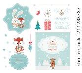 set of christmas vector... | Shutterstock .eps vector #211238737