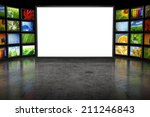 tv screeen with images   Shutterstock . vector #211246843