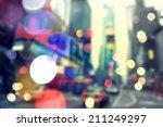 blurry bokeh background of... | Shutterstock . vector #211249297