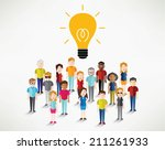 different social groups of... | Shutterstock .eps vector #211261933