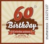 60 years celebration  60th... | Shutterstock .eps vector #211271137