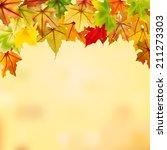 Maple Autumn Leaves Falling...
