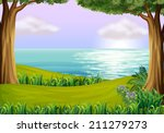 illustration of the land and... | Shutterstock . vector #211279273