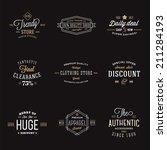 retro typography abstract... | Shutterstock .eps vector #211284193
