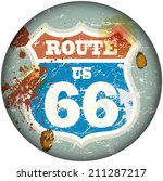 vintage route sixty six road... | Shutterstock .eps vector #211287217