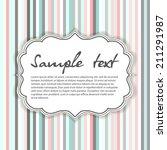 retro card. vector background.... | Shutterstock .eps vector #211291987