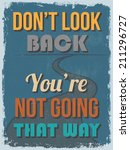 retro vintage motivational... | Shutterstock .eps vector #211296727