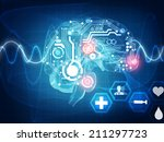 brain waves   Shutterstock . vector #211297723