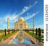 taj mahal in india  | Shutterstock . vector #211314253