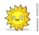cartoon happy sun | Shutterstock .eps vector #211321123