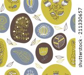 seamless pattern with the... | Shutterstock .eps vector #211330657