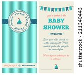 baby shower invitation.... | Shutterstock .eps vector #211340443