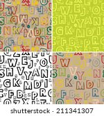set of abstract seamless... | Shutterstock .eps vector #211341307
