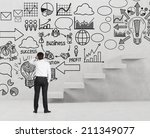 a sketch of the research of the ... | Shutterstock . vector #211349077