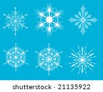 vector snow flakes for your... | Shutterstock .eps vector #21135922