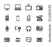 communication icon set  vector... | Shutterstock .eps vector #211363153