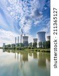 thermal power station   turceni ...   Shutterstock . vector #211365127
