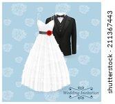 wedding invitation card. vector ...   Shutterstock .eps vector #211367443