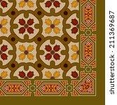 seamless art nouveau floral... | Shutterstock .eps vector #211369687