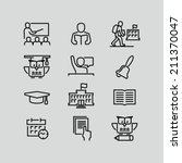 school outline icons | Shutterstock .eps vector #211370047