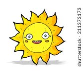 cartoon happy sun | Shutterstock . vector #211373173