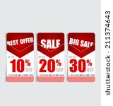price tag  sale coupon  voucher.... | Shutterstock .eps vector #211374643